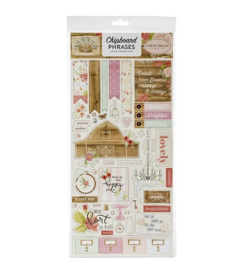 Carta Bella - Farmhouse Market - Chipboard Phrases
