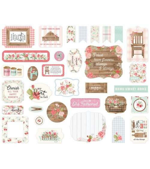 Carta Bella - Farmhouse Market - Ephemera Die Cuts Icons