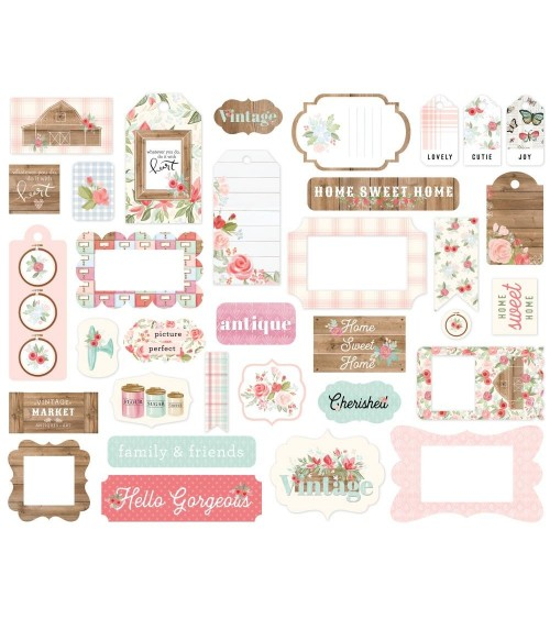 Carta Bella - Farmhouse Market - Ephemera Die Cuts Frames & Tags