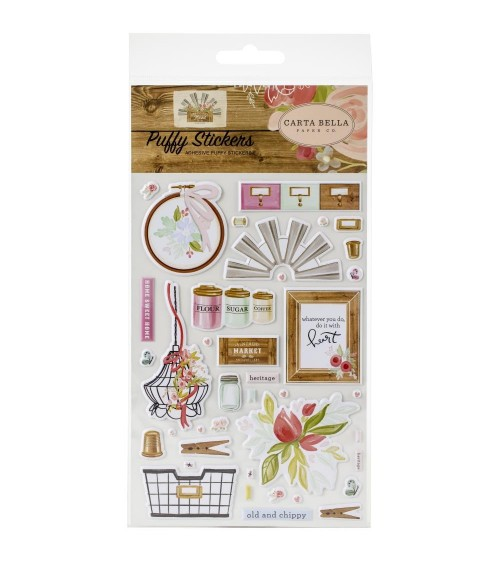 Carta Bella - Farmhouse Market - Puffy Stickers