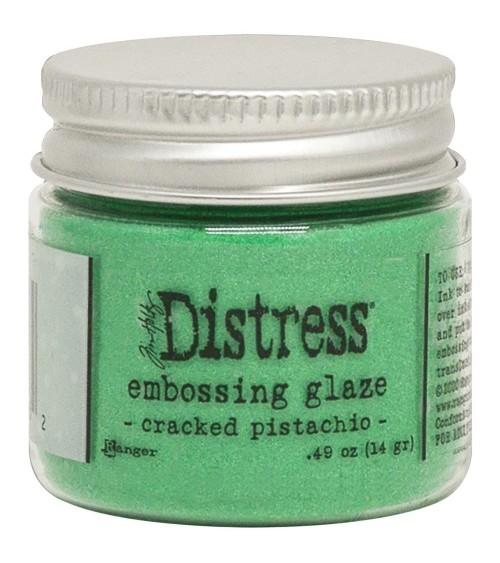 Ranger - Tim Holtz Embossing GLAZE Powder - Cracked Pistachio