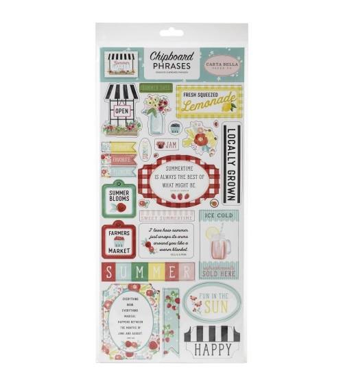Carta Bella - Summer Market - Chipboard Phrases