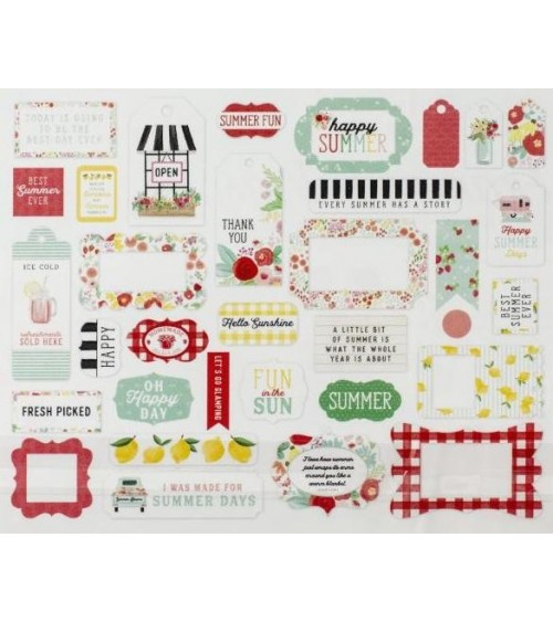 Carta Bella - Summer Market - Ephemera Die Cuts Frames & Tags