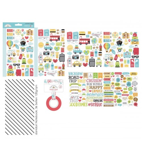 "Memory Notebook Kit ""I love Travel"""