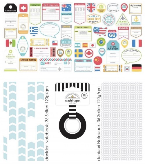 "Add-On zum Memory Notebook Kit ""I love Travel"""