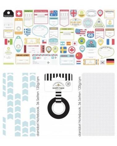 "Add-On zum Memory Notebook Kit ""I love Travel"""