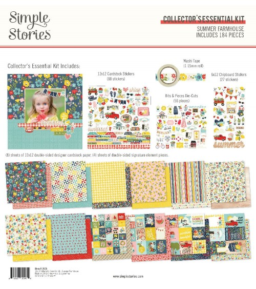 Simple Stories - Summer Farmhouse - Collector's Essential Kit