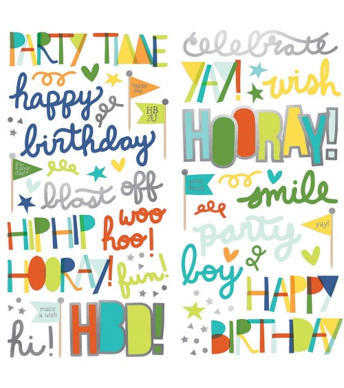 Simple Stories - Birthday Blast - Foam Stickers
