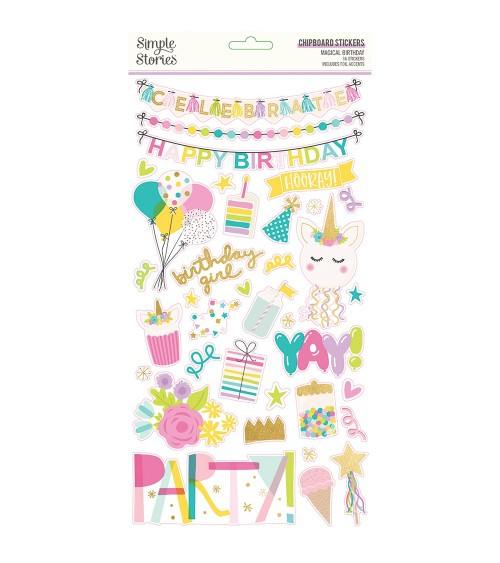 Simple Stories - Magical Birthday - Chipboard Sticker