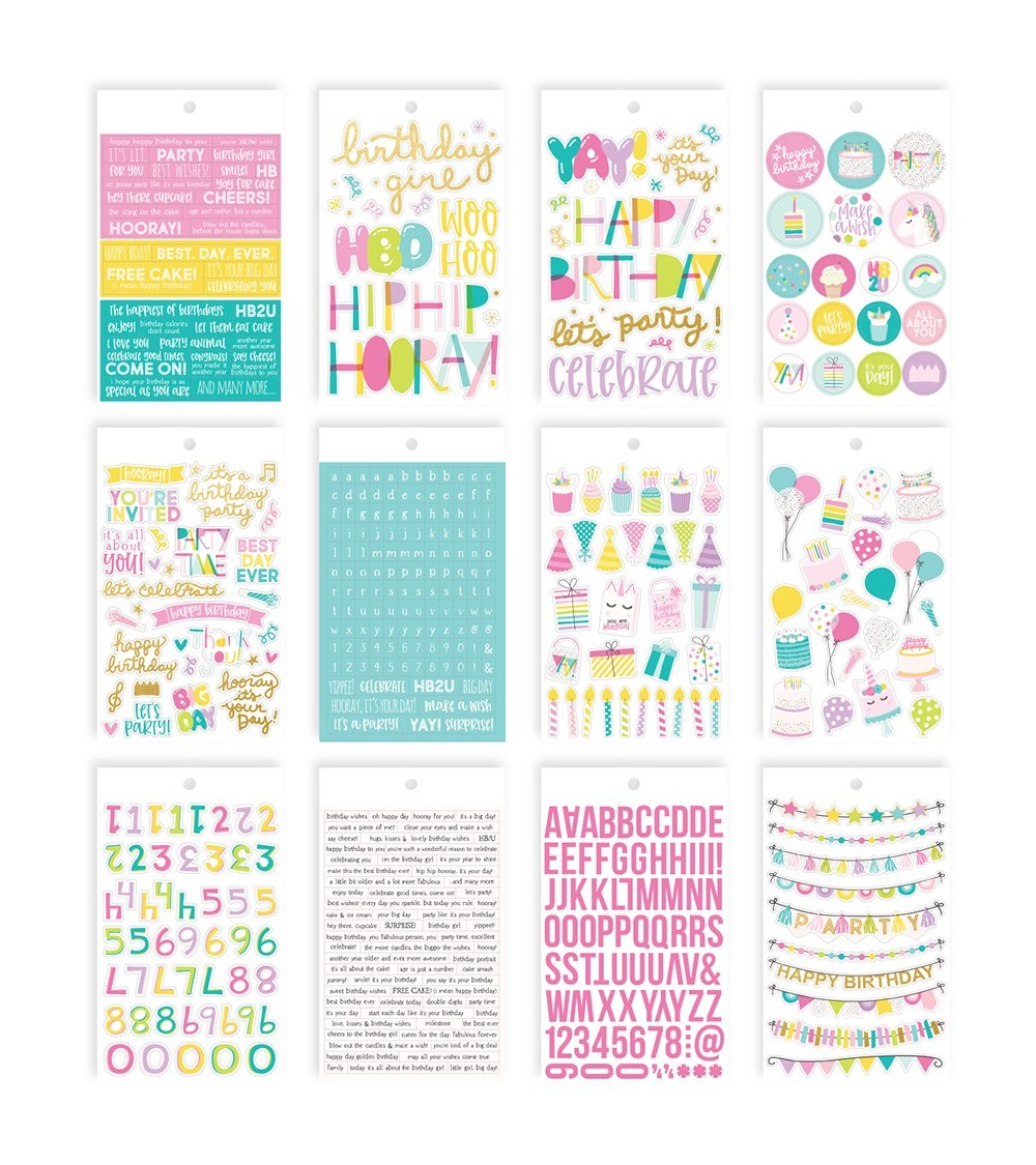 Simple Stories - Magical Birthday - Mini Sticker Tablet