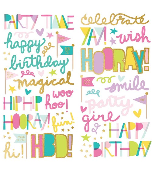 Simple Stories - Magical Birthday - Foam Stickers