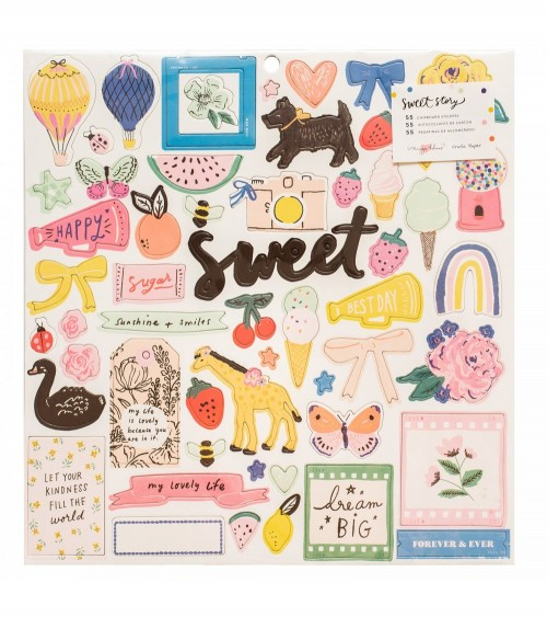"""Crate - Maggie Holmes Sweet Story - 12x12"""" Chipboard"""