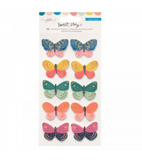Crate - Maggie Holmes Sweet Story - Layered Sticker Butterflies
