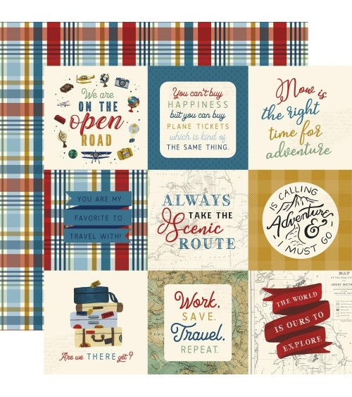 """Echo Park - Scenic Route -  4x4"""" Journaling Cards"""