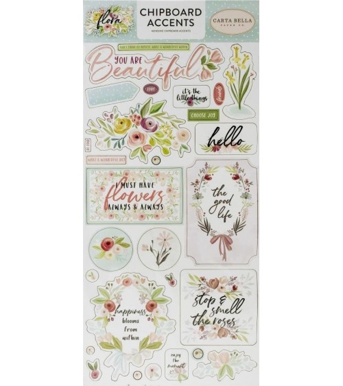 Carta Bella - Flora No. 3 - Chipboard Accents