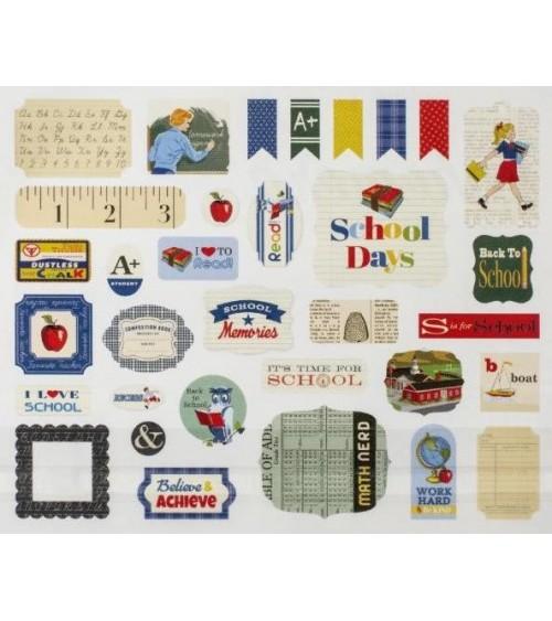 Carta Bella - School Days - Ephemera Die Cuts Icons