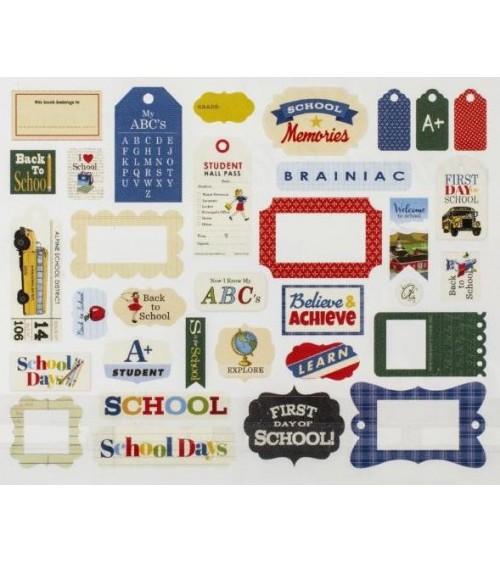 Carta Bella - School Days - Ephemera Die Cuts Frames & Tags
