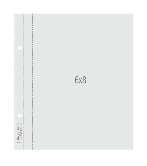 """Simple Stories - SNAP - 6x8"""" Flipbook Pages - 6x8 Pack Refills"""