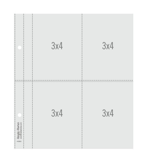 """Simple Stories - SNAP - 6x8"""" Flipbook Pages - 3x4 Pack Refils"""