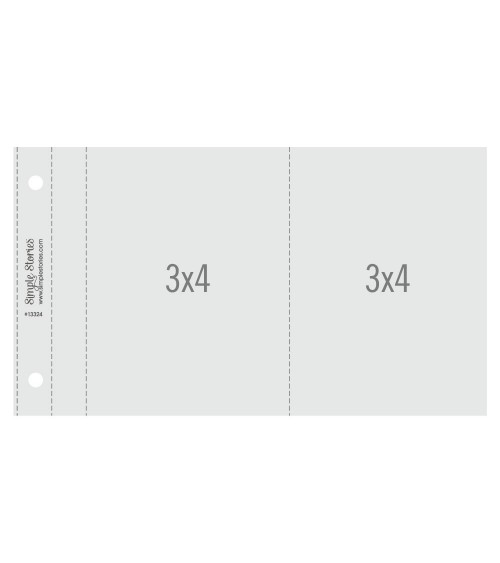 """Simple Stories - SNAP - 3x4"""" Flipbook Pages - 4x6 Pack Refills"""