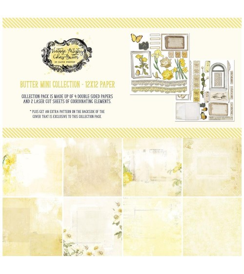 """49 & Market - Vintage Artistry BUTTER - 12x12"""" Collection Pack"""