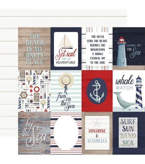 """Carta Bella - By the Sea -  3x4"""" Journaling Cards"""