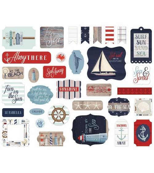 Carta Bella - By the Sea - Ephemera Die Cuts Icons