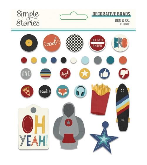 Simple Stories - Bro & Co. - Decorative Brads