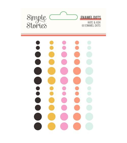 Simple Stories - Kate & Ash - Enamel Dots