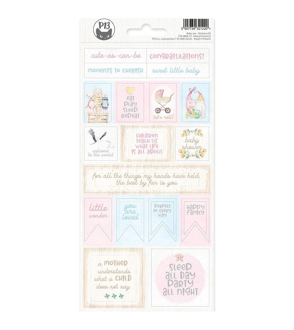 P13 - Baby Joy - Cardstock Sticker  2