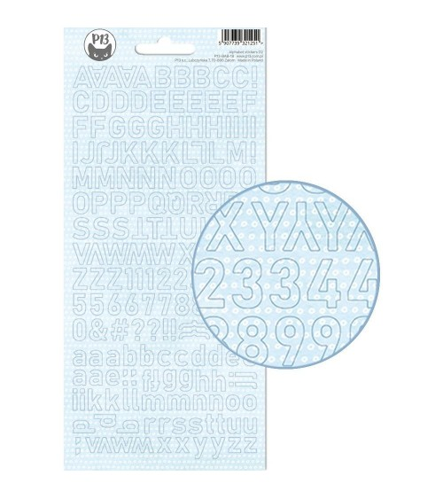 P13 - Baby Joy - Alphabet Sticker - blue dots