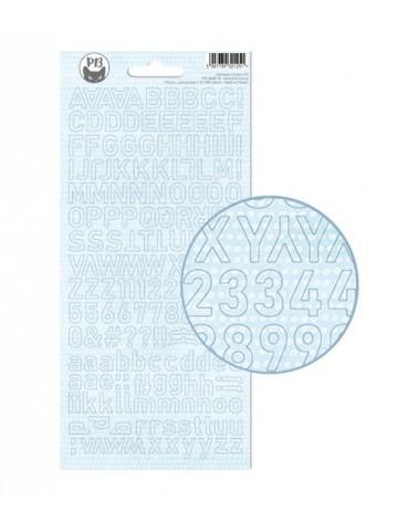 P13 - Baby Joy - Alphabet Sticker - blue dots
