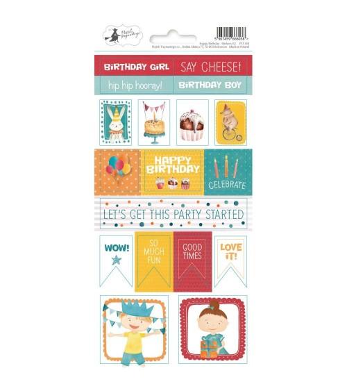 P13 - Happy Birthday - Cardstock Sticker  2