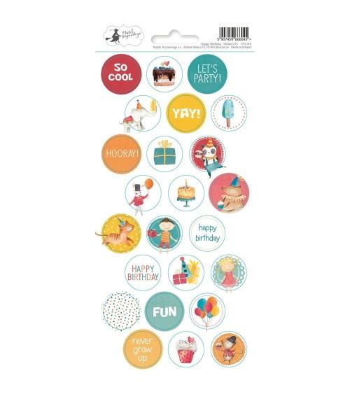 P13 - Happy Birthday - Cardstock Sticker  3