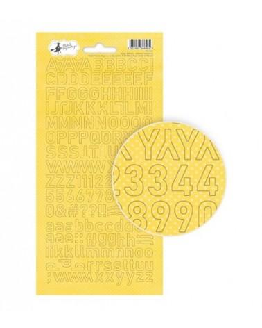 P13 - Happy Birthday - Alphabet Sticker - yellow