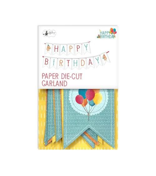 P13 - Happy Birthday - Die Cut Banner  1