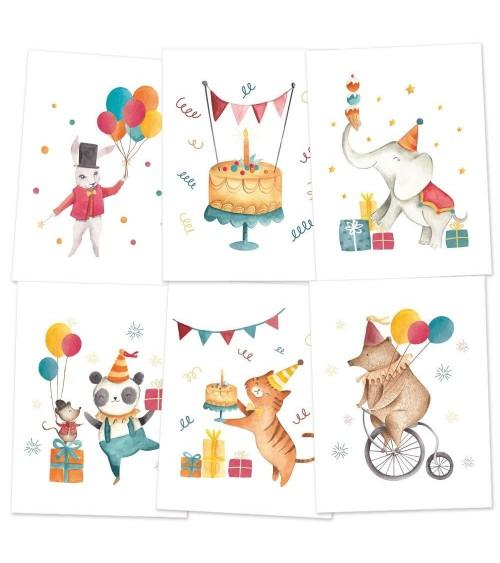 P13 - Happy Birthday - Mini Posters Set