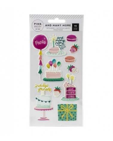 Pink Paislee - And Many More - Embossed Puffy Sticker