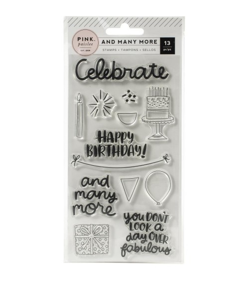 Pink Paislee - And Many More - Clear Stamps