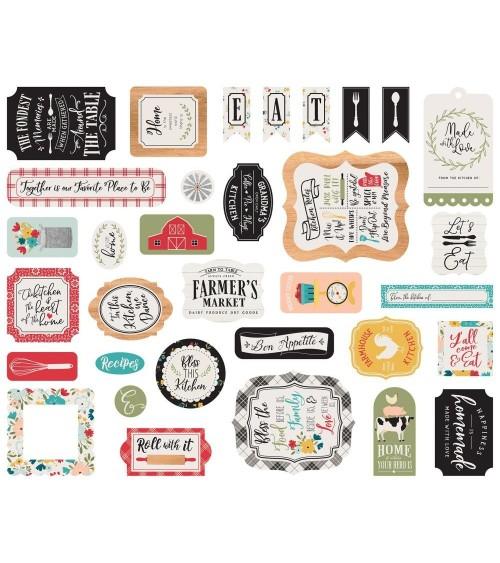 Echo Park - Farmhouse Kitchen - Ephemera Die Cuts Icons