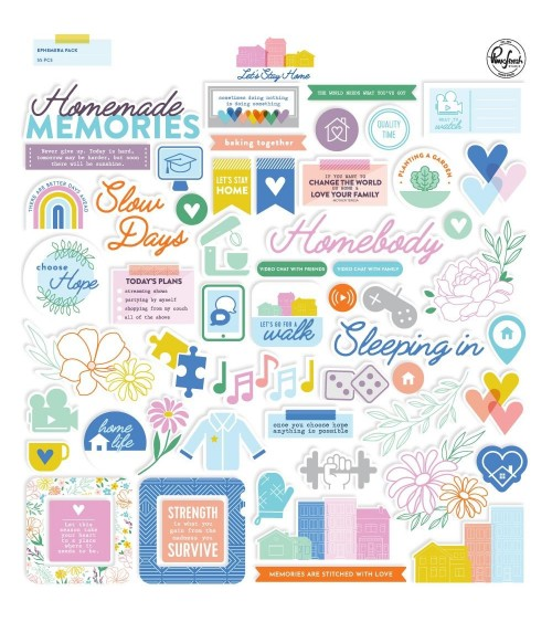Pinkfresh Studio - Let's Stay Home - Ephemera Pack Die-Cuts