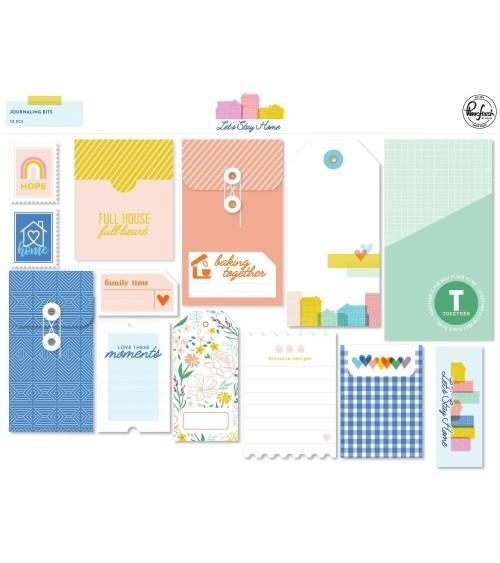 Pinkfresh Studio - Let's Stay Home - Journaling Bits