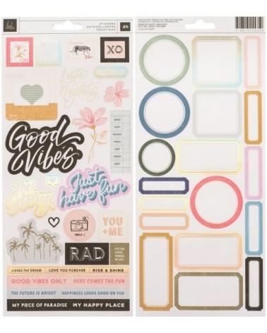 AC - Heidi Swapp Old School - Cardstock Sticker 6x12