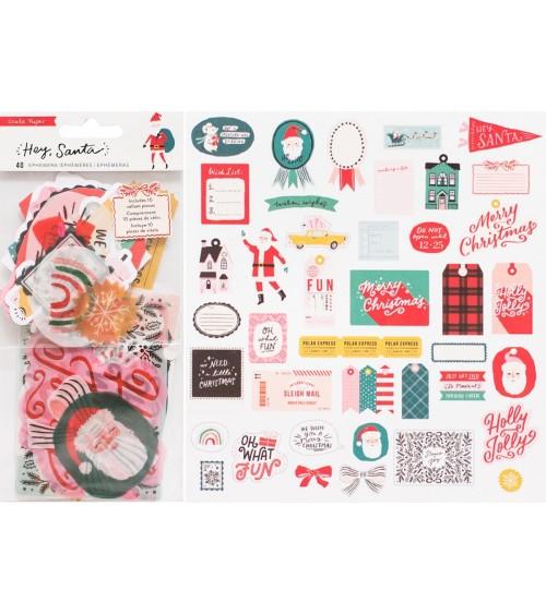 Crate - Hey Santa - Die Cuts Ephemera Pack