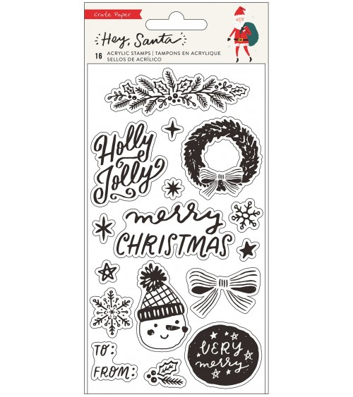 Crate - Hey Santa - Clear Stamps