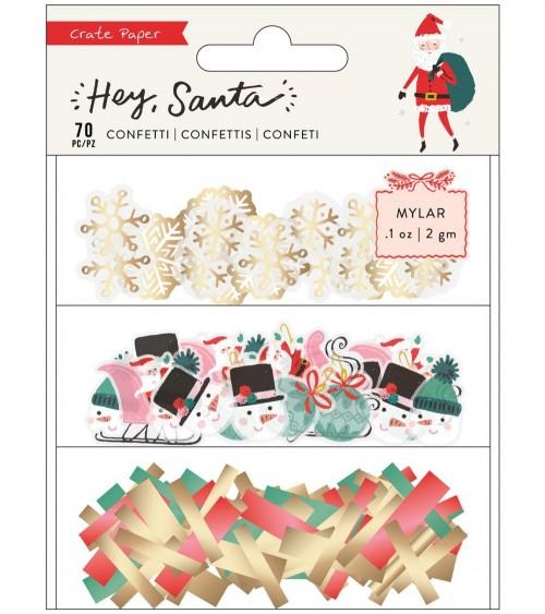 Crate - Hey Santa - Confetti Embellishment Set