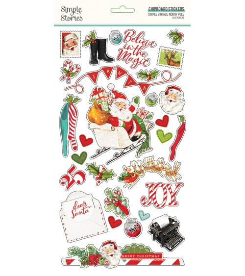Simple Stories - Simple Vintage North Pole - Chipboard Sticker