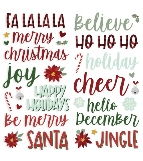 Simple Stories - Jingle All the Way - Foam Stickers