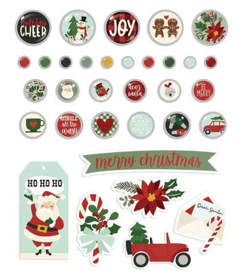 Simple Stories - Jingle All the Way - Decorative Brads
