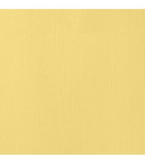 "American Crafts Textured Cardstock 12x12"" - Banana"